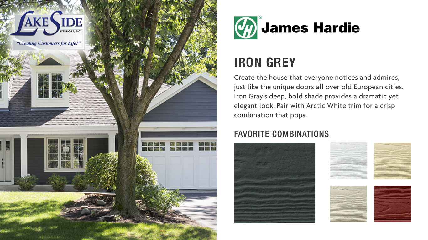Fabulous Iron Grey Color Combinations: James Hardie Siding EK71