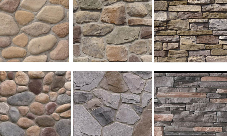 Stone veneer siding lakeside exteriors for Types of house siding materials